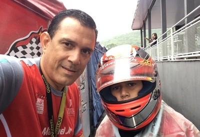 Manuel Jr e seu pai Manuel Carlos