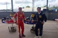 Zonta e Thiago Marques, piloto do Brasileiro de Marcas, ao fim dos treinos